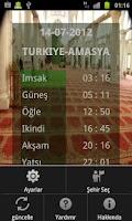 Screenshot of Namaz Vakitleri