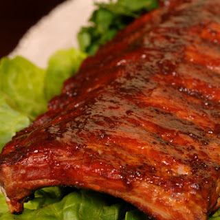 Oven Baby Back Ribs with Hoisin BBQ Sauce.