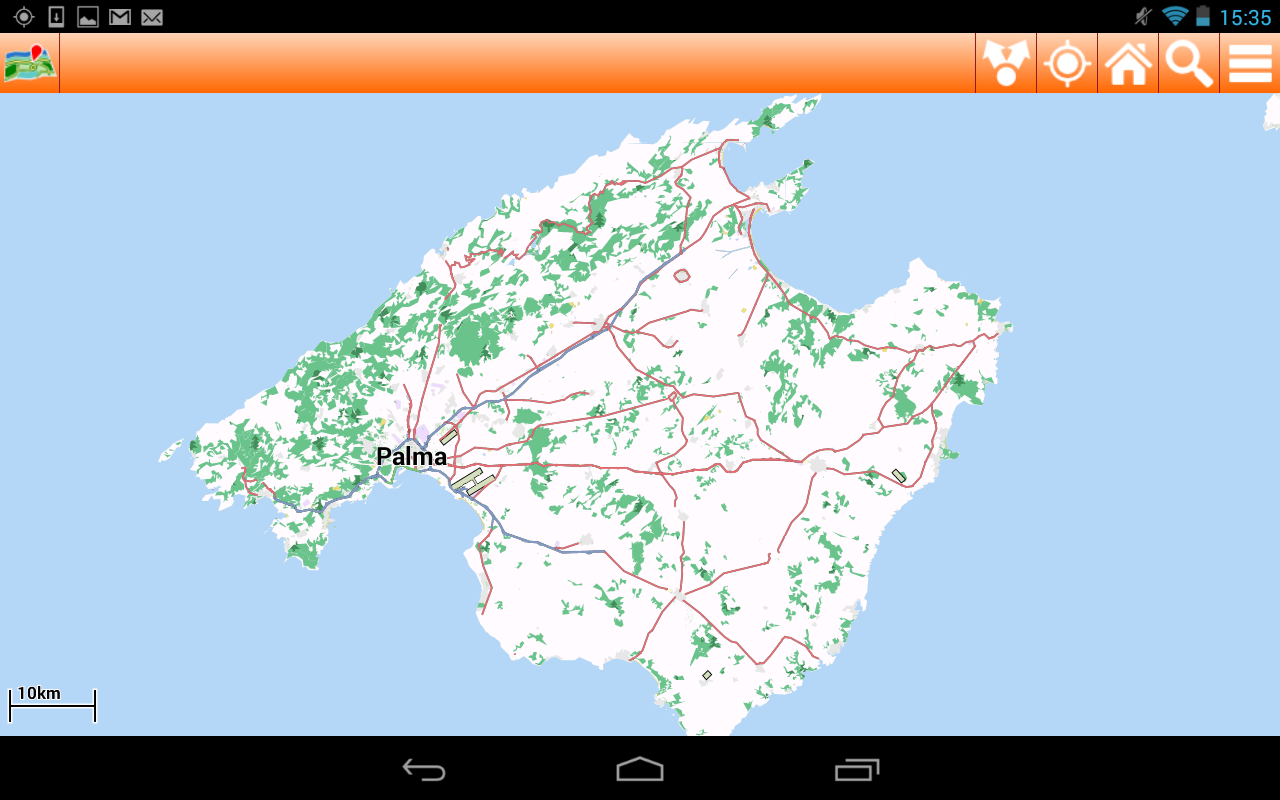 Mallorca Offline mappa Map - screenshot