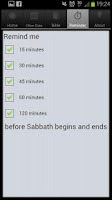 Screenshot of The Sabbath App