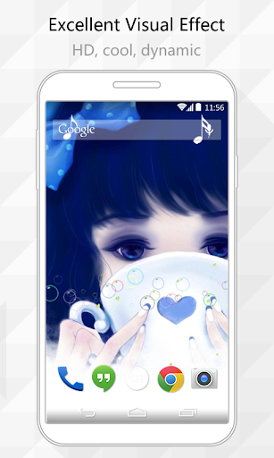 Dreamy Girl Live Wallpaper