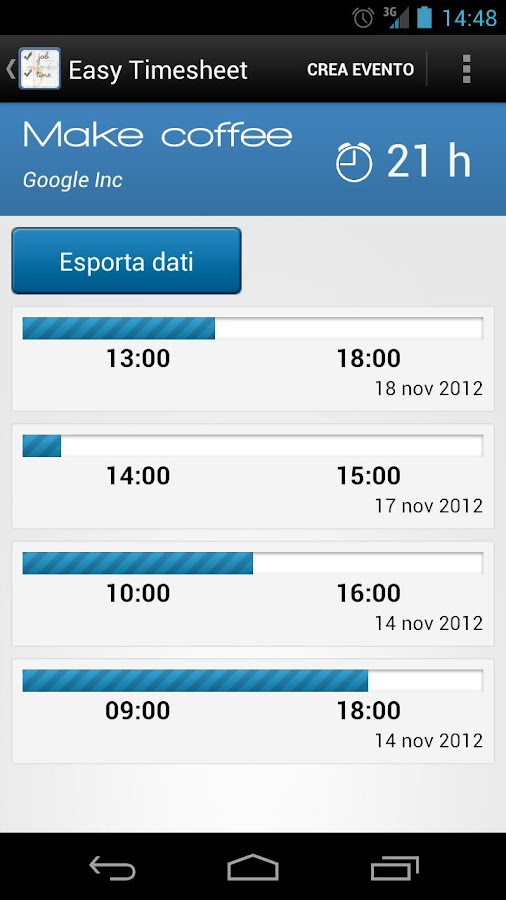 Easy Timesheet- screenshot