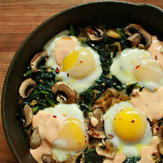 Green Egg Skillet Bake.