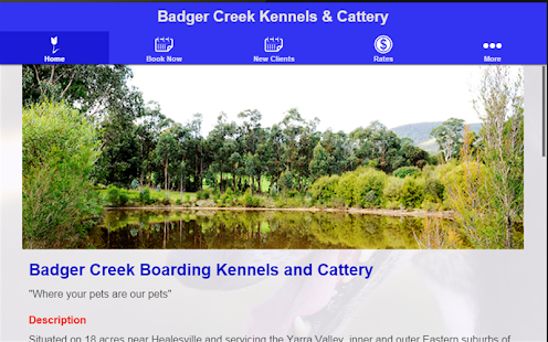 Badger Creek Kennels & Cattery- screenshot thumbnail