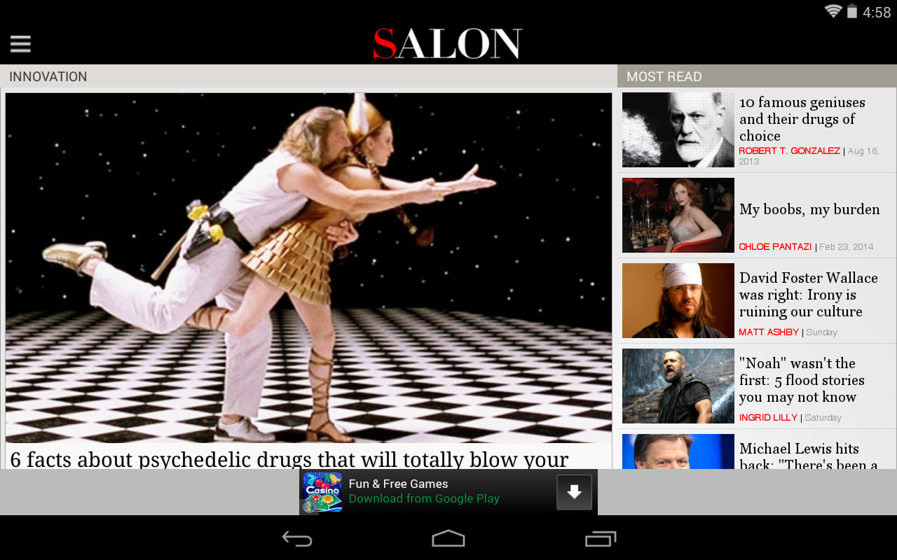 Salon.com - screenshot