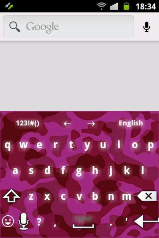 Pink Army Camo Keyboard