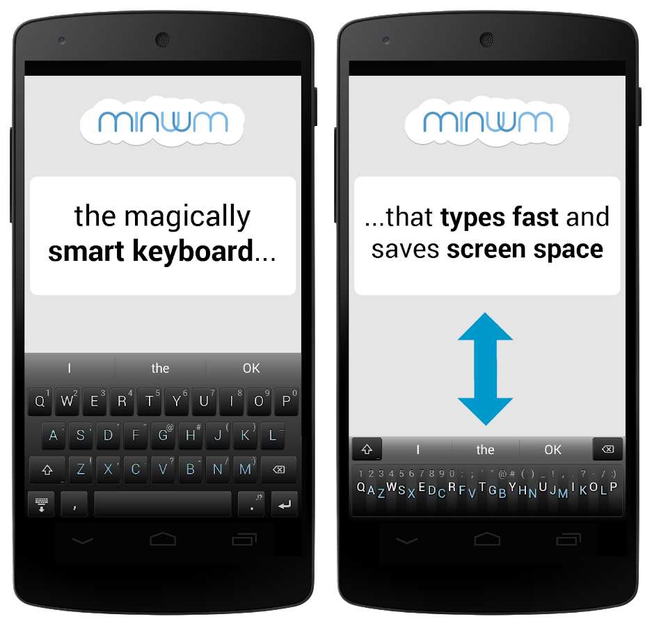 Minuum Keyboard - screenshot