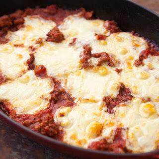 Polenta Sausage Mozzarella Casserole.