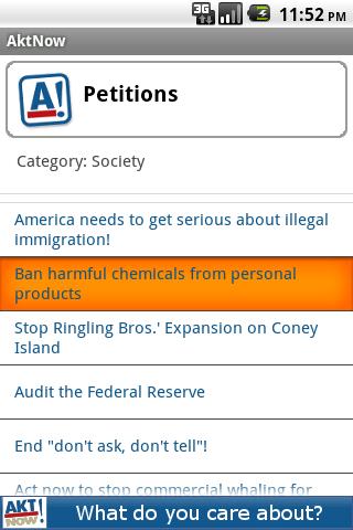 AktNow Petitions- screenshot