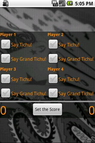 Droid Tichu Tracker - screenshot