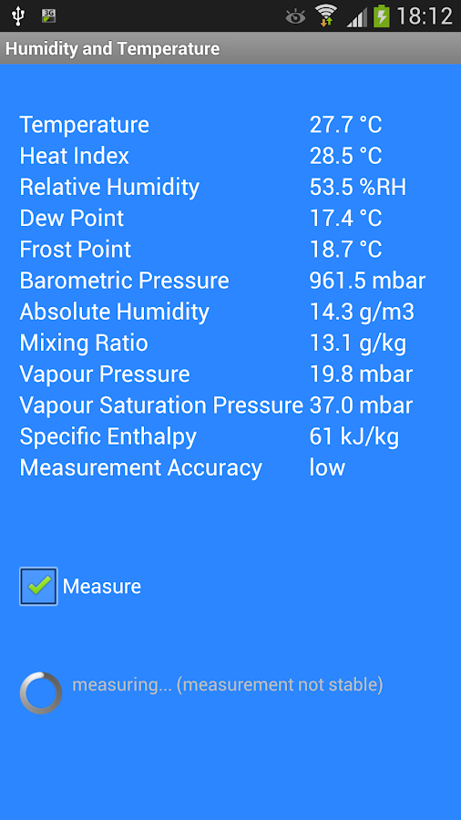 Humidity and Temperature- screenshot