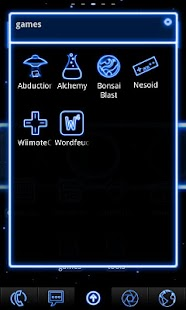 Neon Blue ADW Theme- screenshot thumbnail