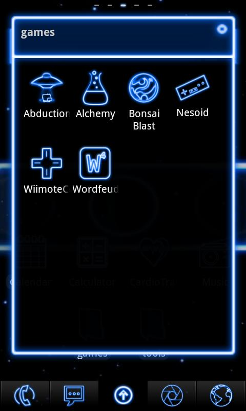 Neon Blue ADW Theme - screenshot