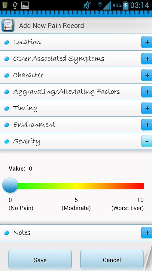 Manage My Pain Lite - screenshot