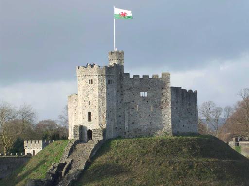 Cardiff Castle in Wales.