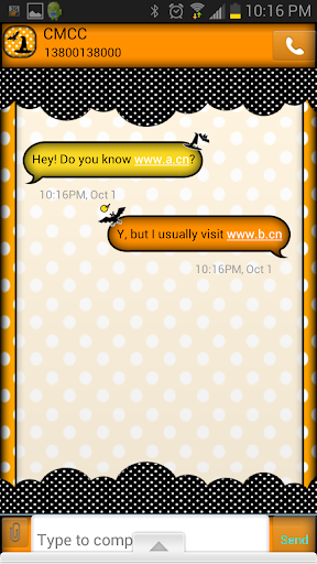 GO SMS THEME Halloween2013