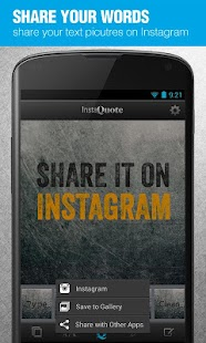 InstaQuote: add text to photos- screenshot thumbnail