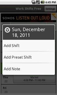 Work Shifts Free- screenshot thumbnail