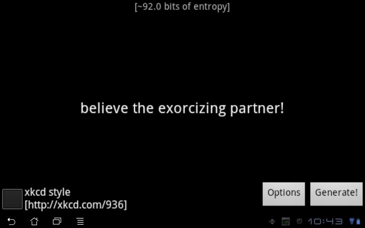 Passphraser- screenshot