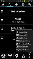 Screenshot of Transit Now Toronto for TTC +