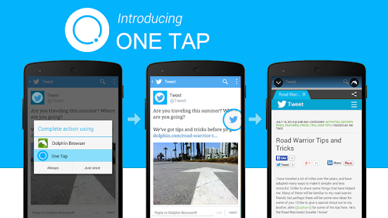 One Tap - One Floating Browser