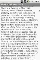 Screenshot of Works of Geoffrey Chaucer