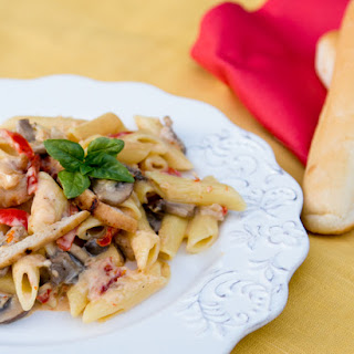Chicken and Vegetable Penne Alfredo