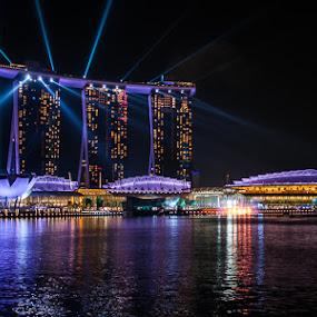 Singapore, Marina Bay by Photoxor AU - City,  Street & Park  Skylines ( lights, marina bay sands, night, singapore, marina bay, city, , Urban, City, Lifestyle )