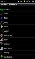 Screenshot of RuneScape Calculators