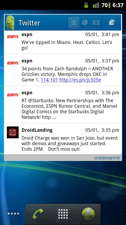 LP Plus Android Central Theme - screenshot