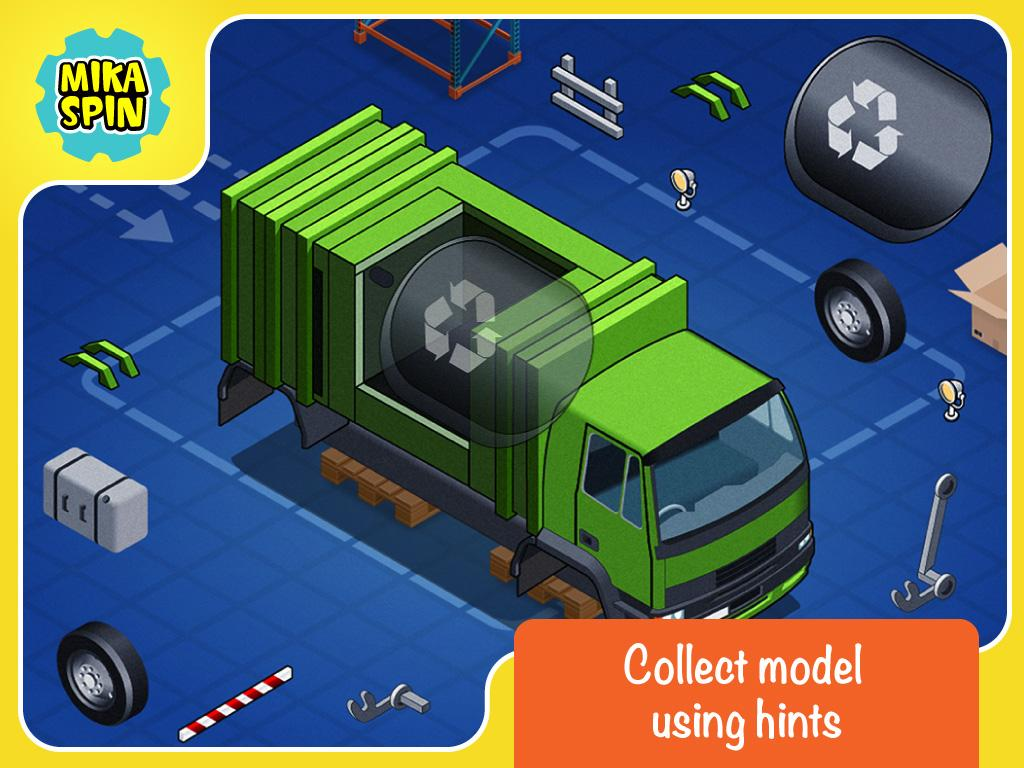 Build a car games for kids - Create Car Puzzle Game For Kid Screenshot