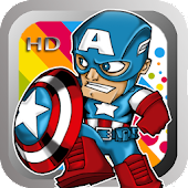 Coloring Captain America