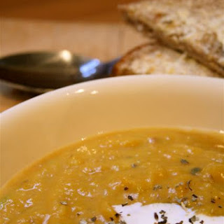 Quick And Easy Butternut Squash And Chestnut Soup