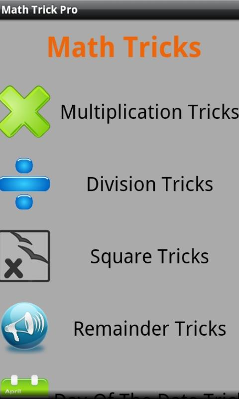 Math Tricks - screenshot