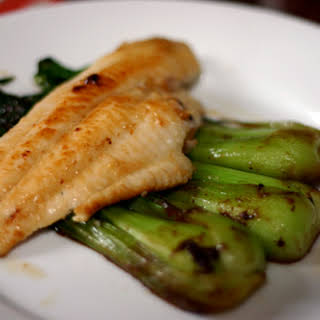 Miso-Glazed Catfish and Baby Bok Choy.