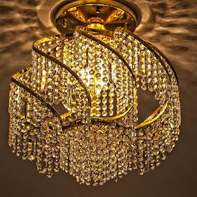 Chandelier by Sarthak Bisaria - Artistic Objects Glass ( chandelier, hdr, swarovski crystal, gold, light )