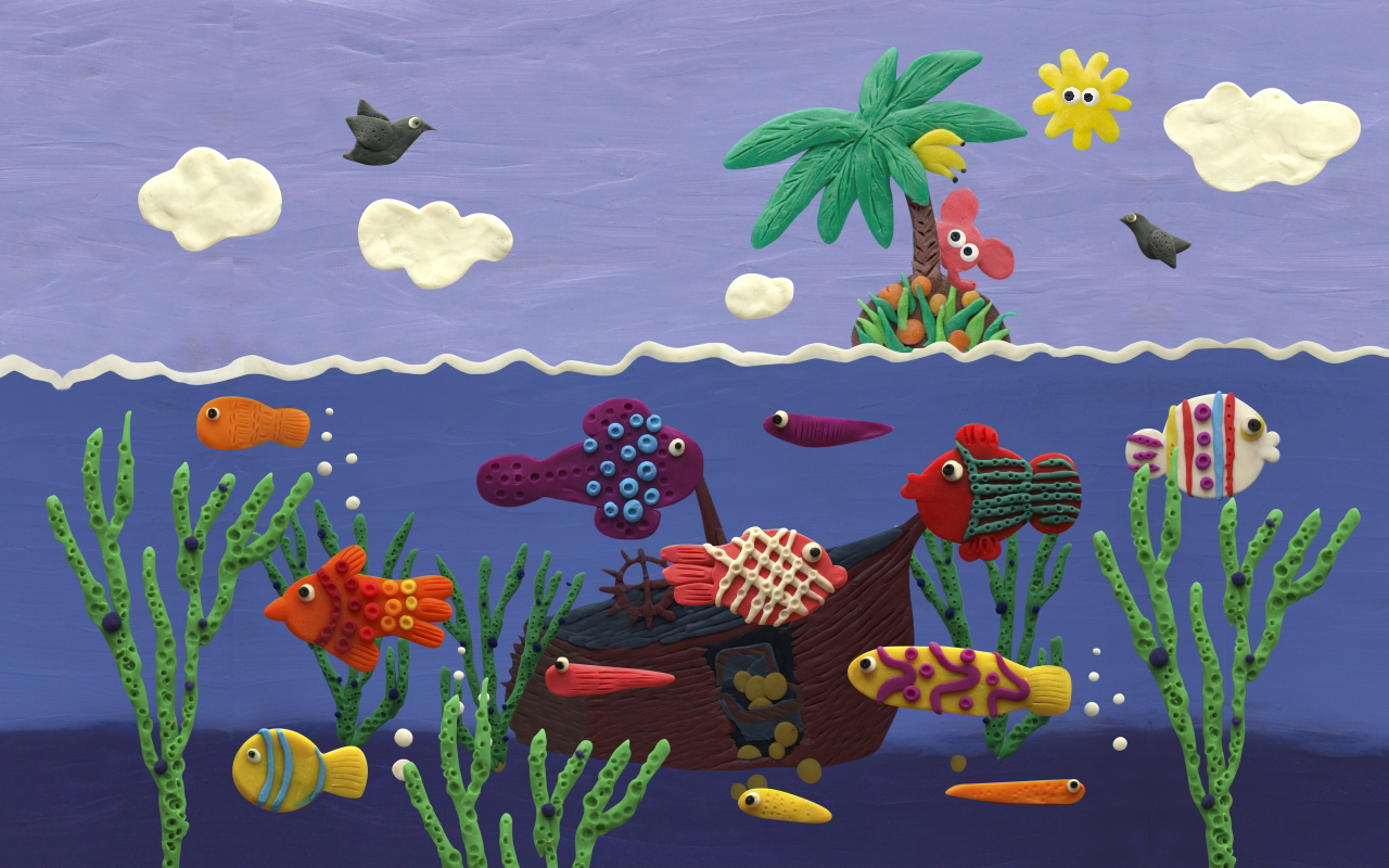 Plasticine ocean - screenshot
