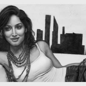 Yami Gautam by Ashwini Dey - Drawing All Drawing