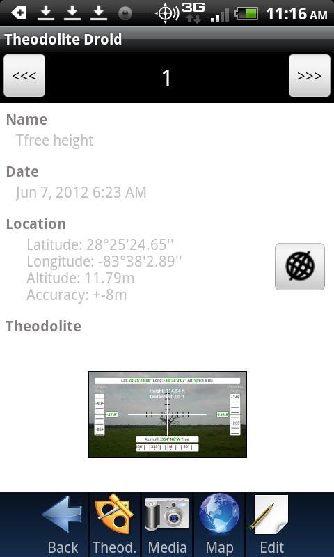 Théodolite Droid - screenshot