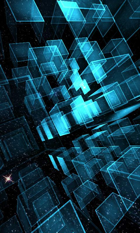 Matrix 3D Cubes 3 LWP - screenshot