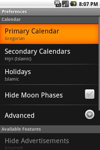 Alternate Calendar- screenshot