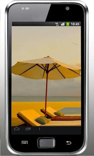 Beach Sea Sunset livewallpaper