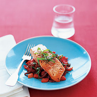 Wild Salmon With Red-Pepper Sauté