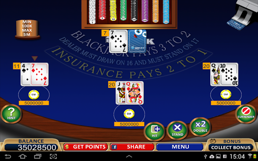 Blackjack 21+ Casino Card Game  9