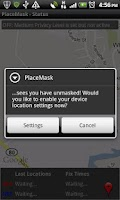 Screenshot of Location Privacy TRIAL