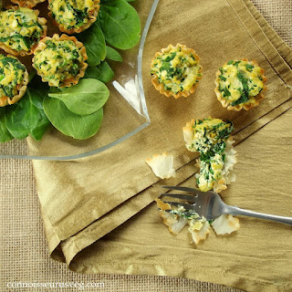 Vegan Mini Spinach Quiches