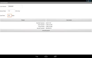 Screenshot of Financial Calculator