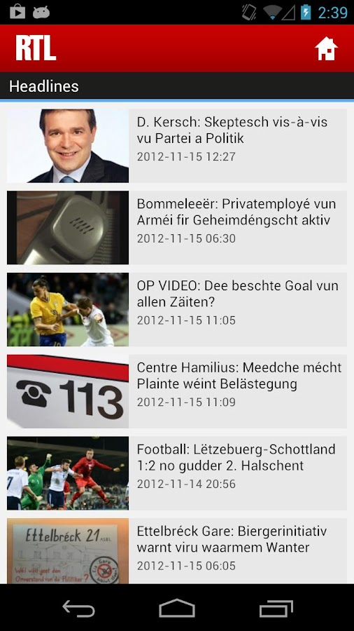 RTL.lu - screenshot