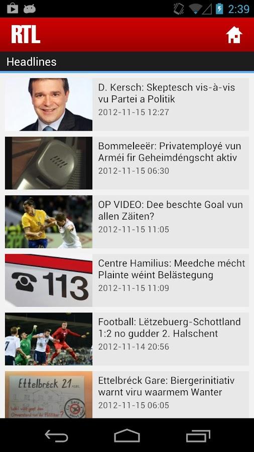 RTL.lu- screenshot