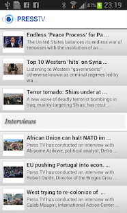 Press TV Mobile - screenshot thumbnail